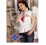 Chemise Western Lily White