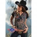 T-Shirt Western Baby Blue