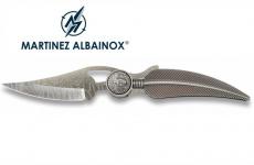 Couteau Pliant mini plume argent tête indien Lame gravé de 6 cm