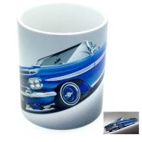 Mug  voiture américaine bleu claire