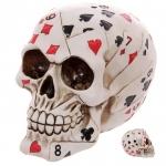 Crane tête de mort  Carte Poker