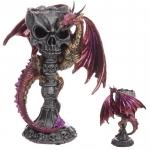 Chandelier  Crane et Dragon ROUGE  de 23 cm
