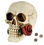 Tirelire Crane avec Rose de 12 cm