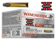 Cartouches 22 Magnum Super X HP  Creuse Boite de 150