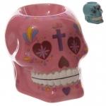 Bruleur à huile Céramique Rose  jour des morts Mexicain
