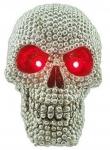 Crane tête de mort Argenté Lumineux à LED