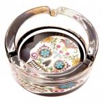 Cendrier jour des morts Mexicain  décoré tête de mort multi couleur