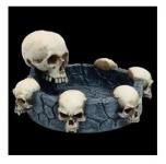 Cendrier 6 crânes