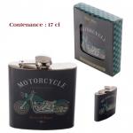 Flasque  vintage motorcy cle 17 cl  en acier inox