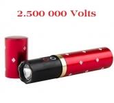 Shocker electrique 2.500 000 Volts  Rouge forme rouge a lèvre  avec Lampe