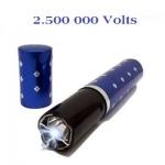 Shocker electrique 2.500 000 Volts Bleu forme rouge a lèvre  avec Lampe Led