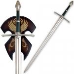 Epée Strider d'Aragon sur socle bois