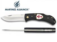 Couteau pliant de poche   Blason croix de templiers
