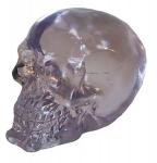 Crâne tête de mort en verre Transparent