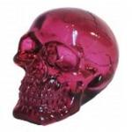 Crâne tête de mort en verre  Translucide Violet