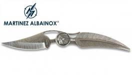 Couteau Pliant plume  tête d'indien Lame gravé de 8.5 cm