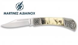 Couteau Pliant Motif Chasse Cerf   Lame de 7 cm