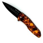 Couteau Pliant ZOMBIE Orange  Lame de 08 cm
