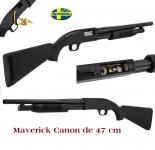 Fusil à pompe MAVERICK Mod.88  Cal 12/76  (canon de 47cm passé en 60.5 cm)