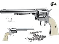 Revolver  COLT  S.A.A. 45  Finition Nickelé