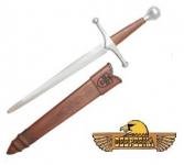 Dague Allemande Médiévale Forgé  avec fourreau Cuir