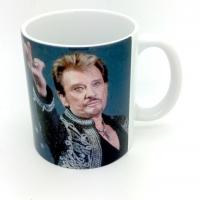 Mug Johnny Hallyday  face au Public