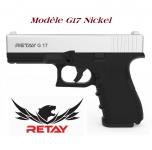 Pistolet de défense Mod.17  Nickel Chrome Cal. 9 mm