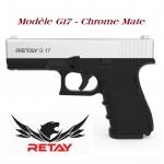 Pistolet de défense Mod.17  chrome mate  Cal. 9 mm