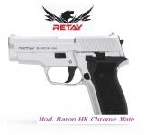 Pistolet de défense Mod.Baron HK  chrome mate  Cal.9mm
