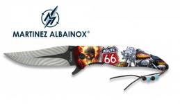 Couteau Pliant ROUTE 66 moto 3D   Lame de 9 cm