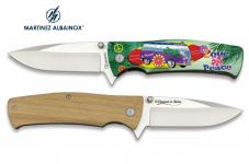 Couteau Pliant WW love and peace  3D   Lame de 8.8 cm