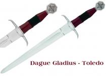 Dague de Combat JERUSALEM  avec fourreau cuir