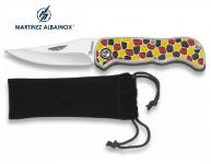Couteau Pliant de poche  design Mosaique  Lame de 6.5 cm