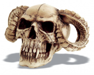 Crâne tête de mort Cornes
