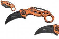 Couteau Pliant Karambit Orange   Lame de 7 cm