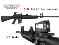 Carabine M16  Black OPS / Cal 4.5 mm
