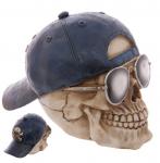 Crâne tête de mort   Lunette et Casquette Retournée