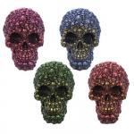 Crâne tête de mort aux couleurs métallique