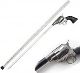 Canne épée Revolver chrome