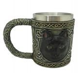 Chope  Chat noire  de 11 cm