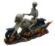 Squelette sur Moto