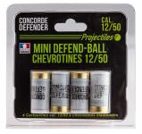 Blister de 4 mini defend-balle  chevrotine Elastomere Cal. 12/50