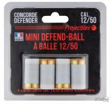 Blister de 4 Cartouches Mini Defend-ball Balle Cal. 12/50