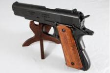 Réplique Pistolet  Mod 45 /1911 Noir  plaquette  Bois