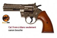 Revolver PYTHON 380  Nickelé  réplique du 357 Magnum