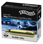 CAPSULE  Walther Co2 + Huile pour  Maintenance de valve  par 10
