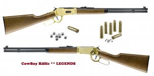Carabine Winchester Dorée  Légends cowboy  Cal. 4.5 Bille Acier
