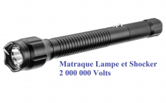 Matraque électrique SHOCKER 2 000 000 Volts + Lampe