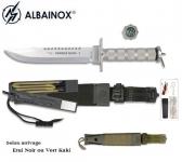Couteau de survie / combat king1 Chrome