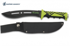 Couteau Mad Zombie  de 32 cm   lame courbé  avec étui en nylon